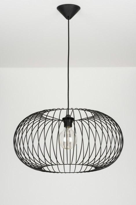 pendelleuchte 10136 modern metall schwarz rund. Black Bedroom Furniture Sets. Home Design Ideas