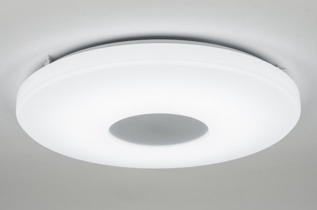 Plafondlamp 10449 modern design wit kunststof for Design plafondlamp