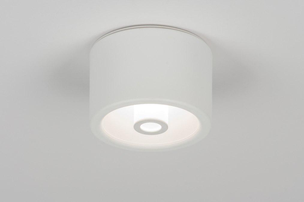 Plafondlamp 10595 modern design wit mat for Design plafondlamp
