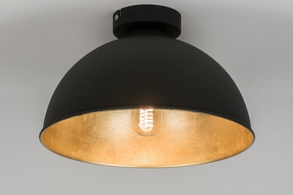 Led Plafondlamp Slaapkamer : plafondlamp 10698: modern, zwart, mat ...
