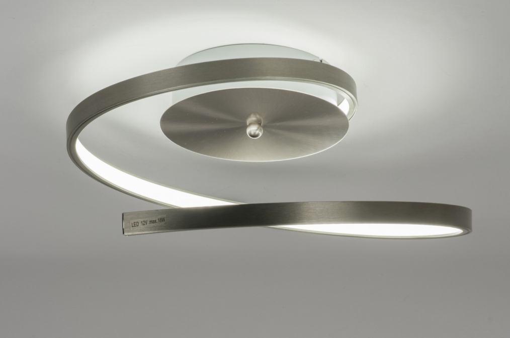 Led Plafondlamp Slaapkamer : Plafondlamp 10875: Modern, Design, Staal ...