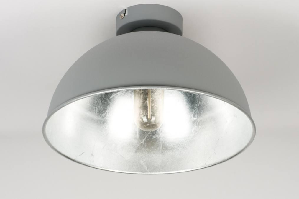 Plafondlamp 10979: Modern, Industrie, Look, Grijs