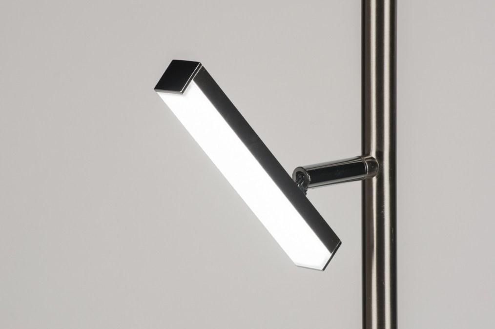 Staande lamp 11024 modern staalgrijs glas staal rvs - Moderne vloerlampen ...