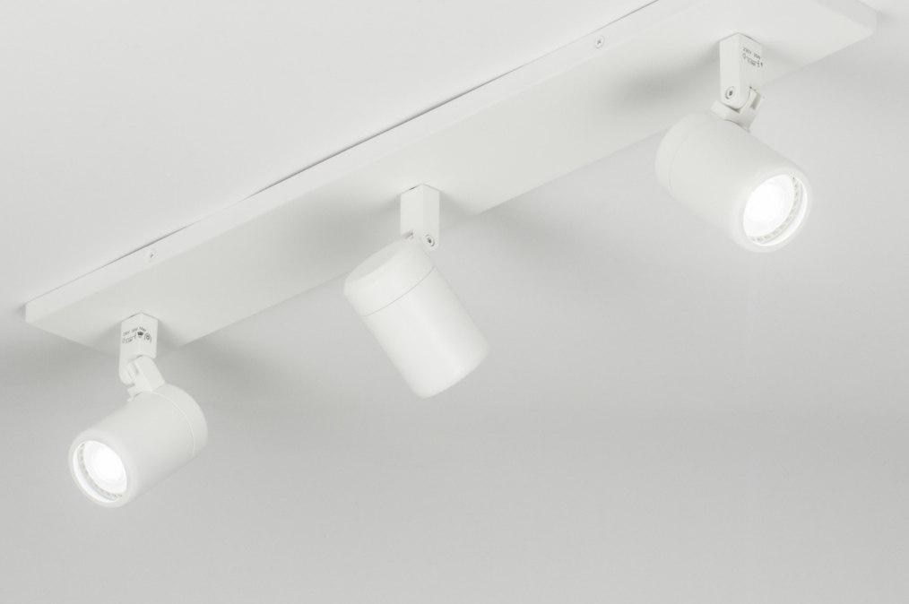 Plafondlamp 11309 modern wit mat - Badkamer kantelen ...