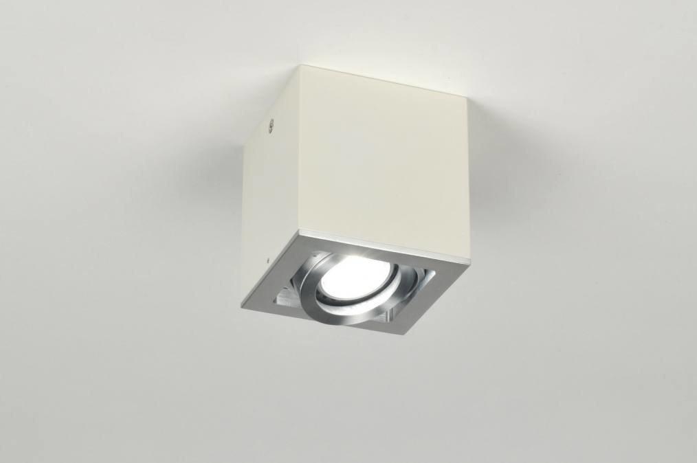 Plafondlamp 30046 modern design aluminium wit for Design plafondlamp