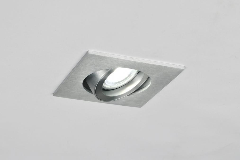 Inbouwspots Voor Keuken : inbouwspot 30050: modern, aluminium, vierkant