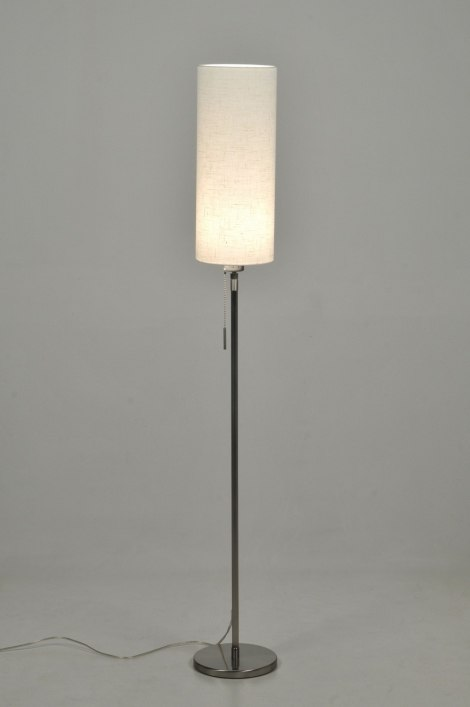 Staande Lamp 30083 Modern Design Staal Rvs Stof