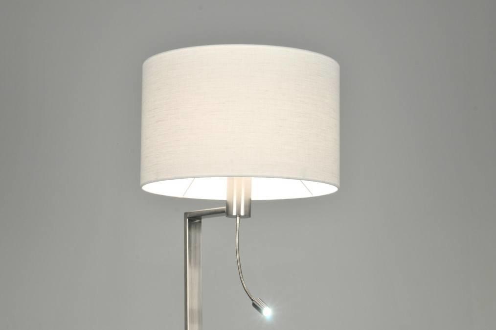 Vloerlamp 30102 modern staal rvs stof - Moderne vloerlampen ...
