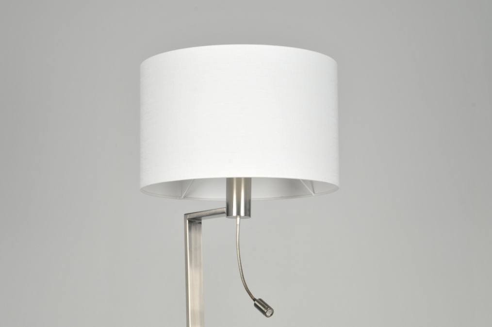 Verlichting Slaapkamer Leeslamp : Vloerlamp 30102: Modern, Staal , Rvs ...