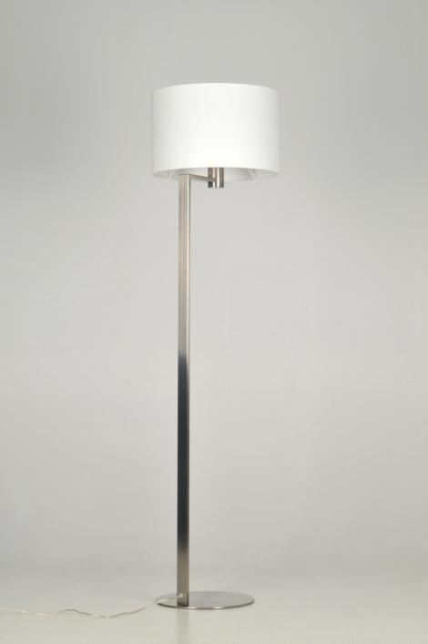 Platte Inbouwspots Keuken : Vloerlamp 30103: Modern, Staal , Rvs, Stof