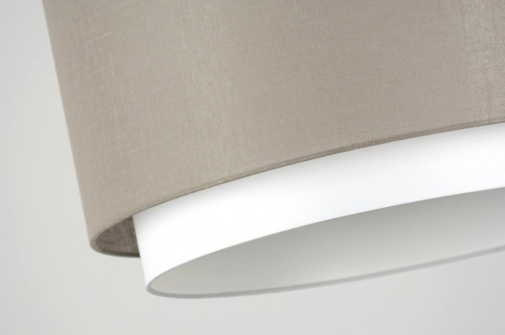 Hanglamp 30146 modern bruin taupe stof - Bruin taupe ...