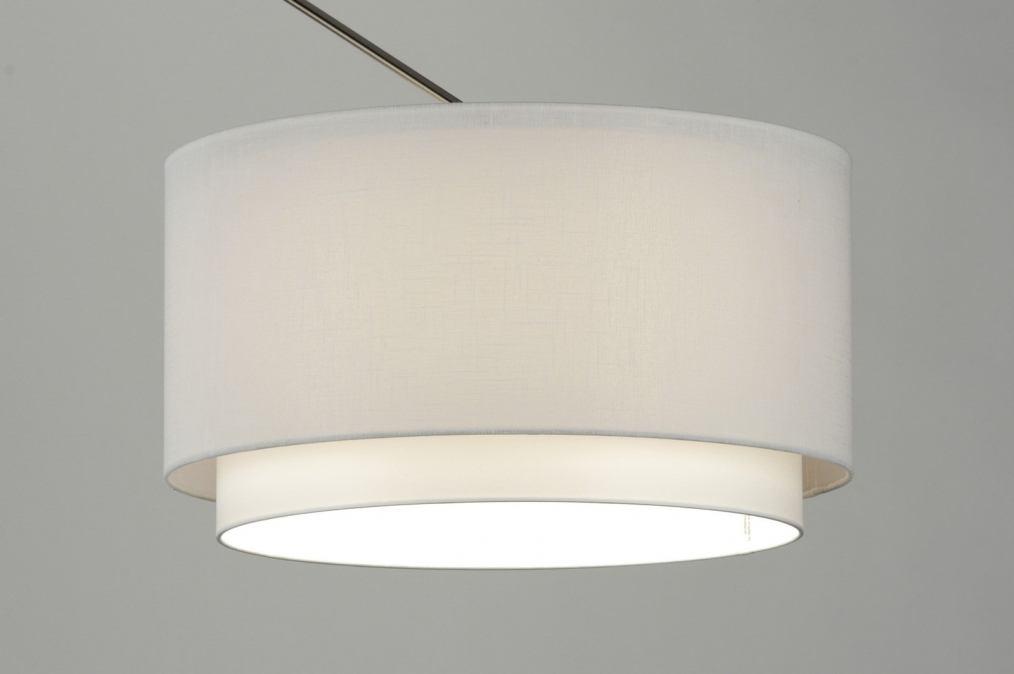 Hanglamp Slaapkamer Wit : Hanglamp 30147: Modern, Staal , Rvs, Stof