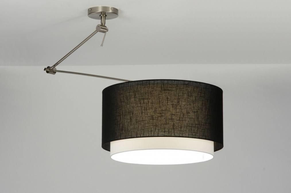 pendelleuchte 30148 modern stahl rostbestaendig stoff schwarz. Black Bedroom Furniture Sets. Home Design Ideas