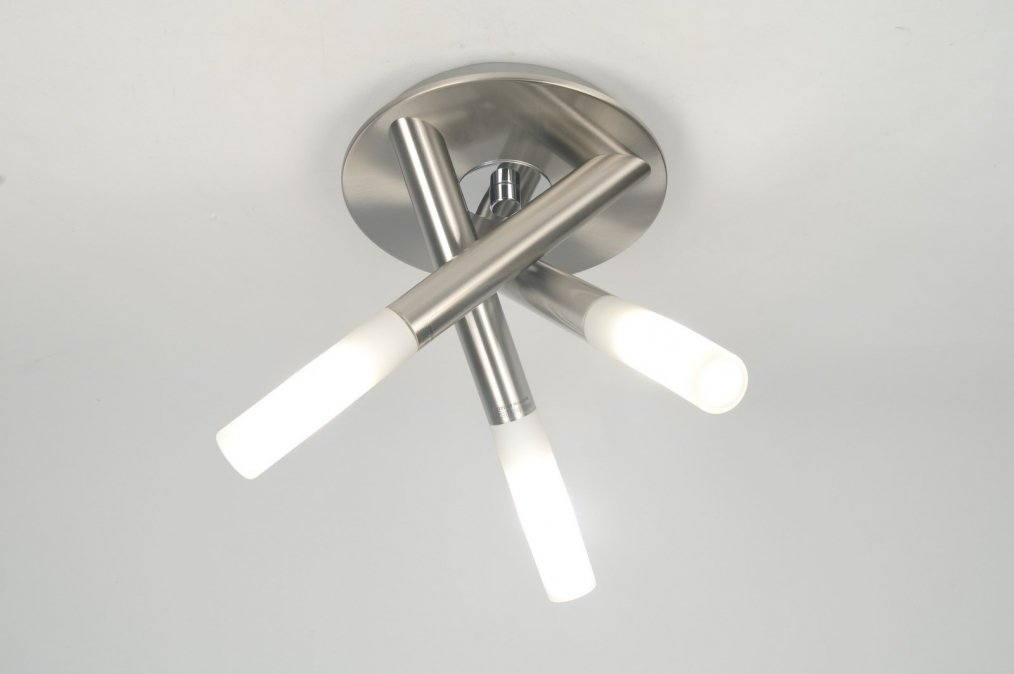 Plafondlamp Voor Keuken : plafondlamp 30202: modern, glas, wit opaalglas, metaal