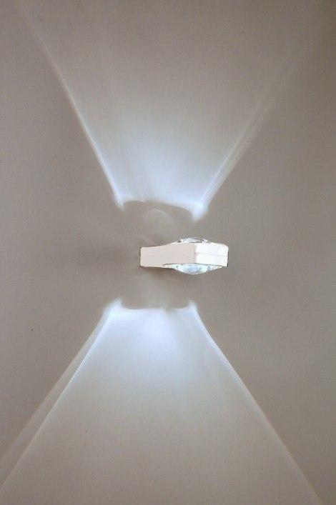 wandleuchte 30207 modern design metall weiss. Black Bedroom Furniture Sets. Home Design Ideas