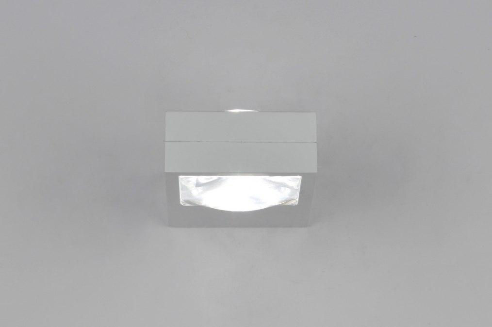 Wandlamp 30207 modern design metaal wit for Design wandlamp
