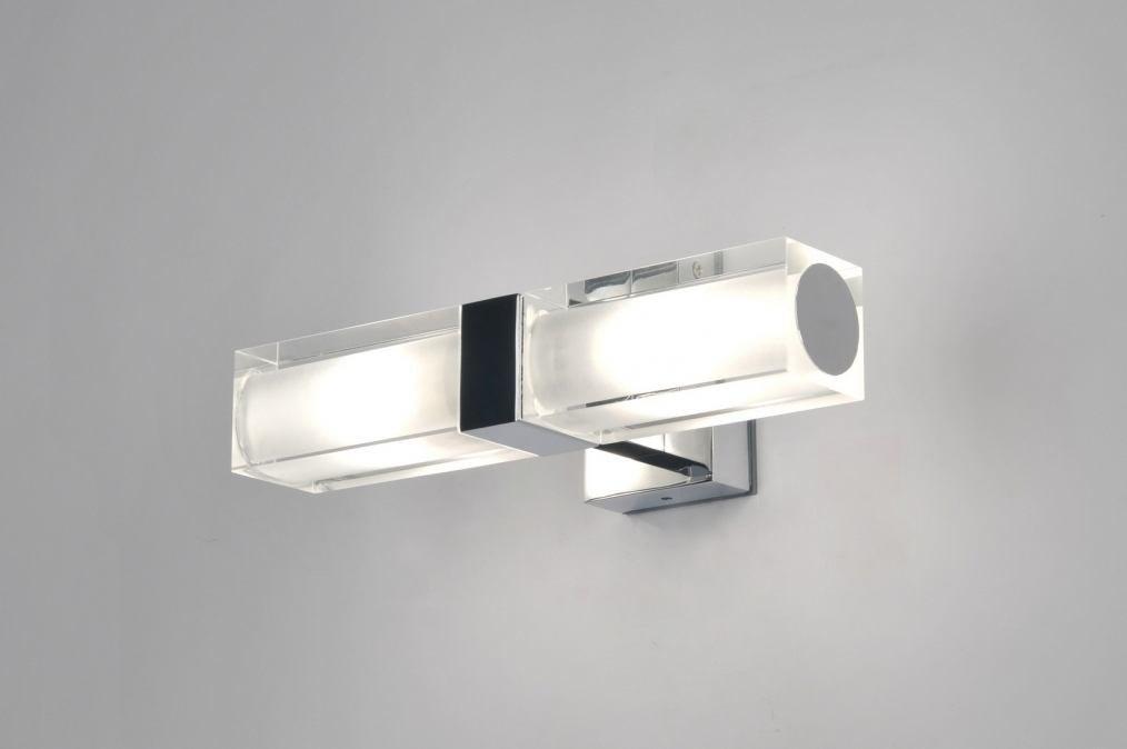 Hoogte Wandverlichting Slaapkamer : Wandlamp 30223: modern, glas, wit ...