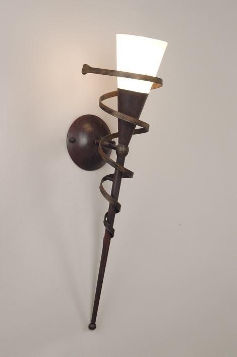 Douche Schuifdeur Rollers ~ wandlamp 30236 klassiek, glas, zacht geel, metaal