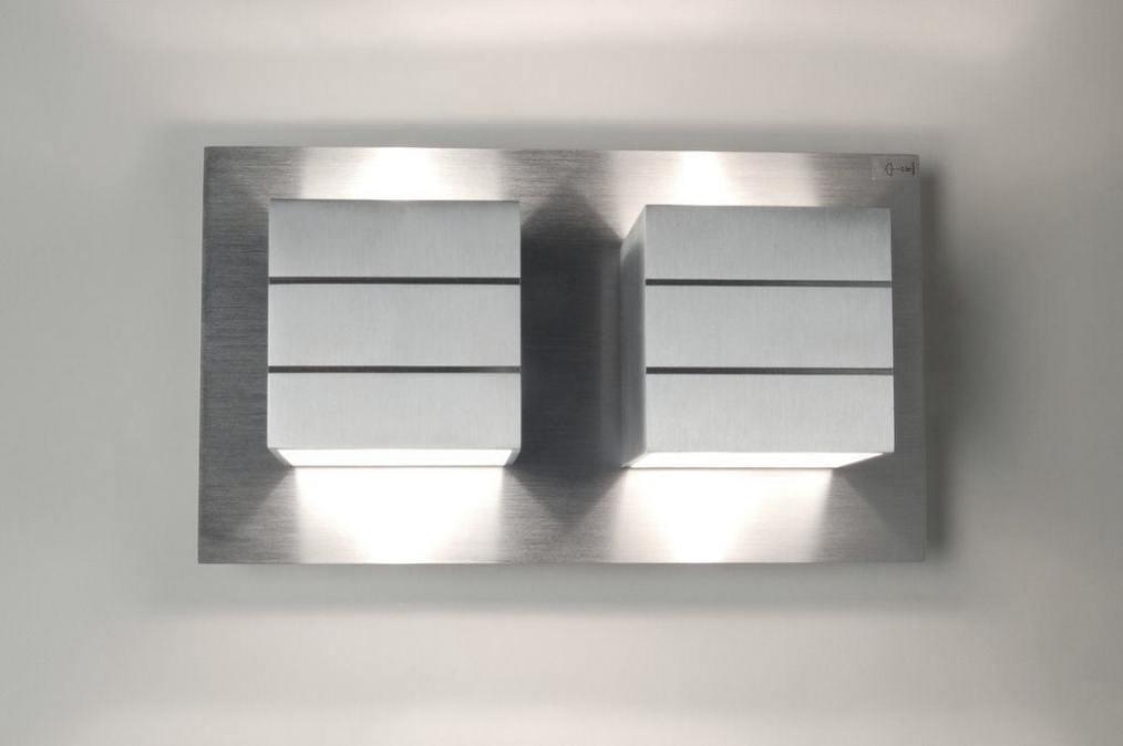 Woonkamer Wandlamp : Wandlamp 30338: Modern, Design, Aluminium ...