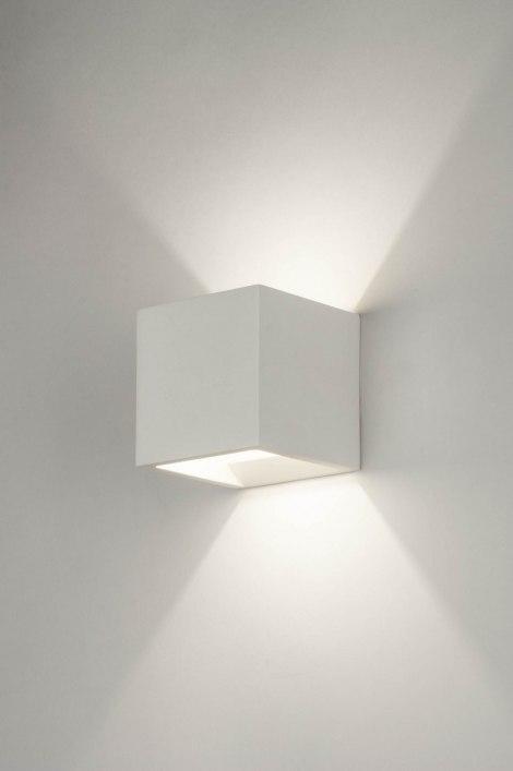 applique murale 30358 moderne ceramique blanc mat. Black Bedroom Furniture Sets. Home Design Ideas