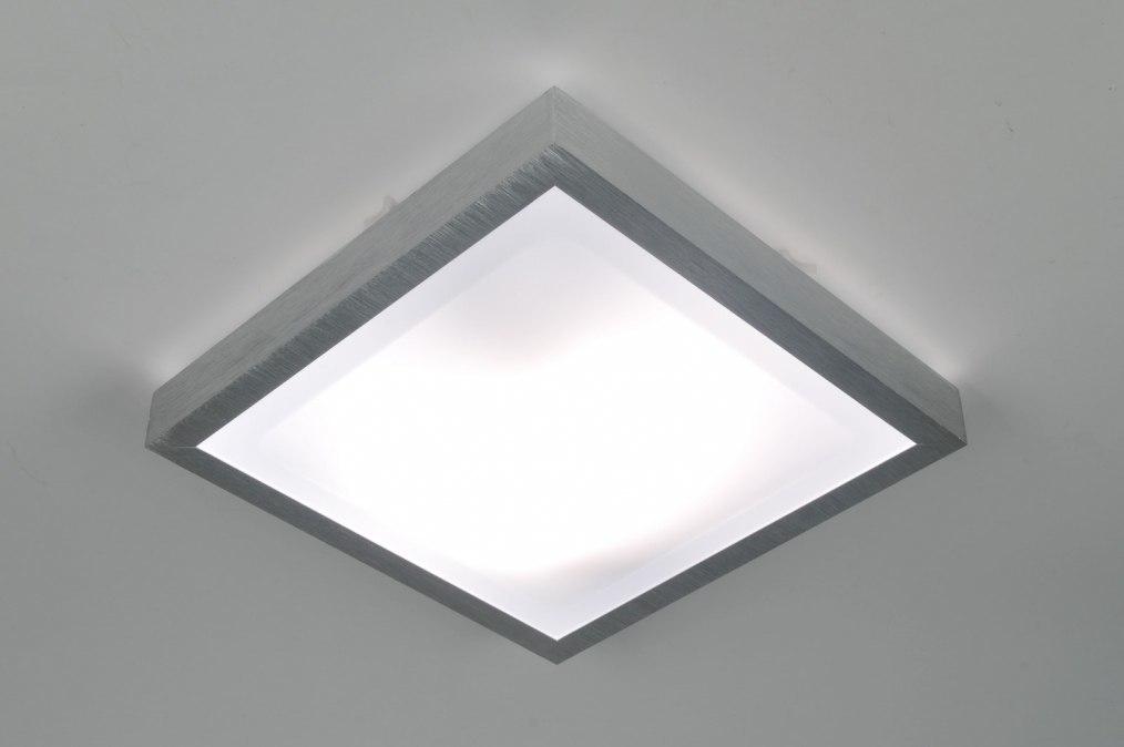 Plafondlamp 30368 Modern Aluminium Kunststof Vierkant