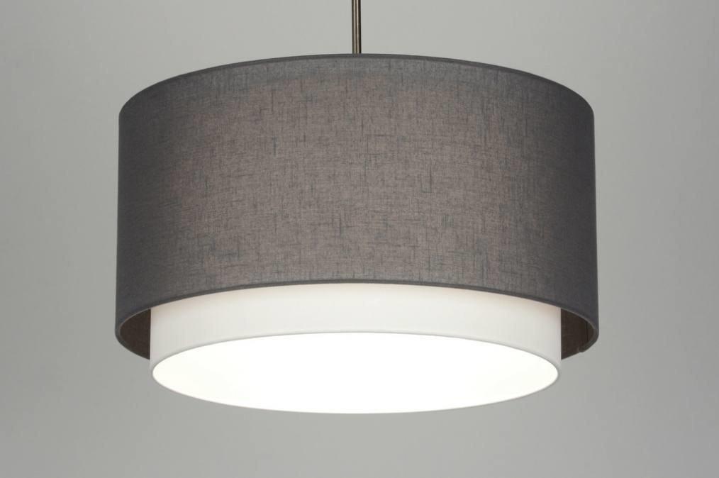 pendelleuchte 30400 modern stahl rostbestaendig stoff anthrazit. Black Bedroom Furniture Sets. Home Design Ideas