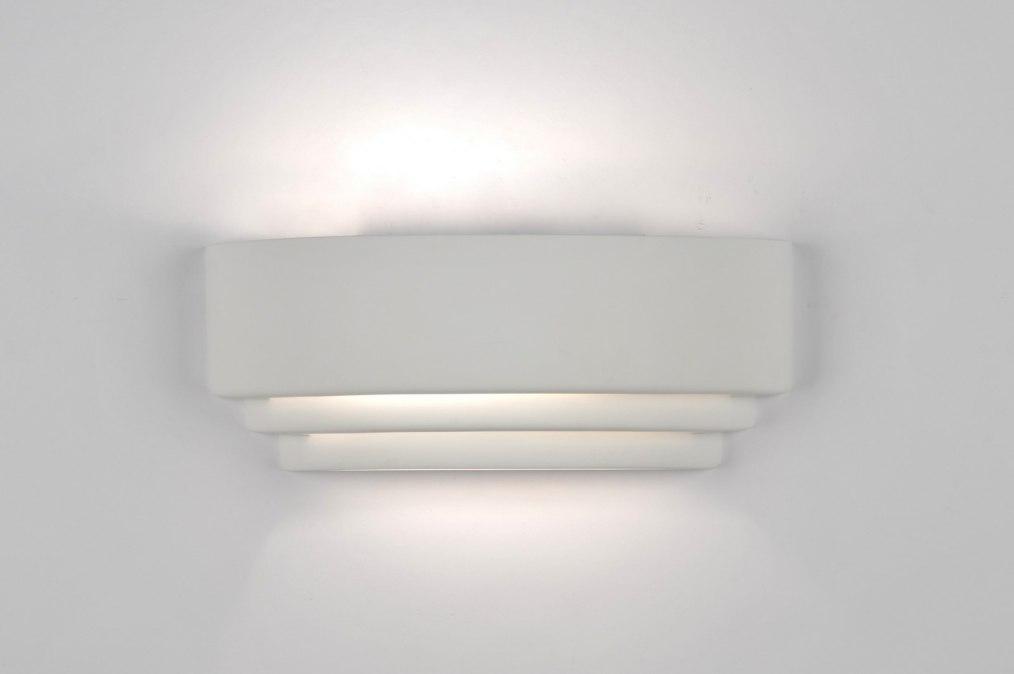 applique murale 30427 moderne ceramique blanc rectangulaire. Black Bedroom Furniture Sets. Home Design Ideas