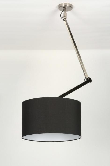 pendelleuchte 30441 modern design schwarz stoff. Black Bedroom Furniture Sets. Home Design Ideas