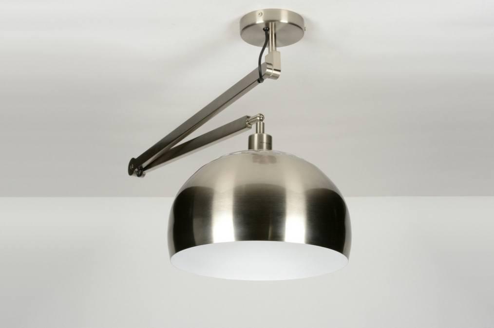 pendelleuchte 30446 modern design stahlgrau stahl. Black Bedroom Furniture Sets. Home Design Ideas