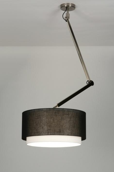 pendelleuchte 30450 modern design schwarz stoff. Black Bedroom Furniture Sets. Home Design Ideas