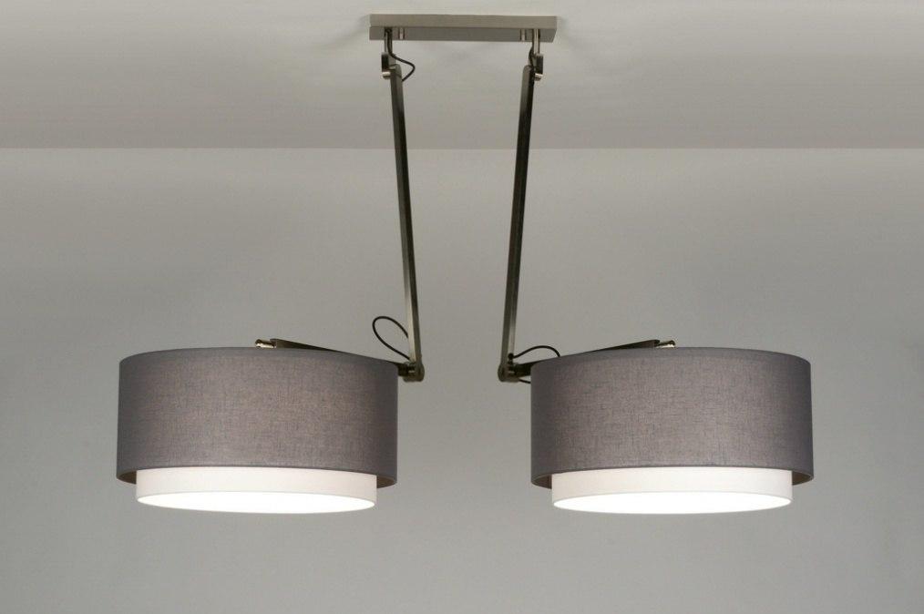 pendelleuchte 30510 modern design anthrazit stoff. Black Bedroom Furniture Sets. Home Design Ideas