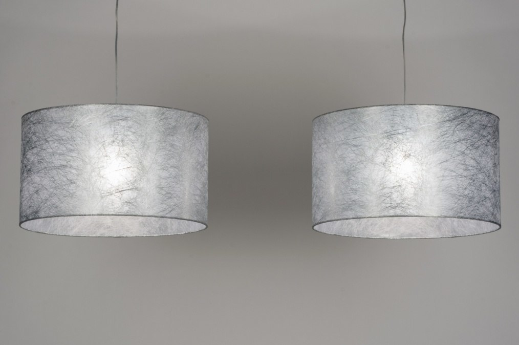 pendelleuchte 30624 modern stahl rostbestaendig stoff grau. Black Bedroom Furniture Sets. Home Design Ideas