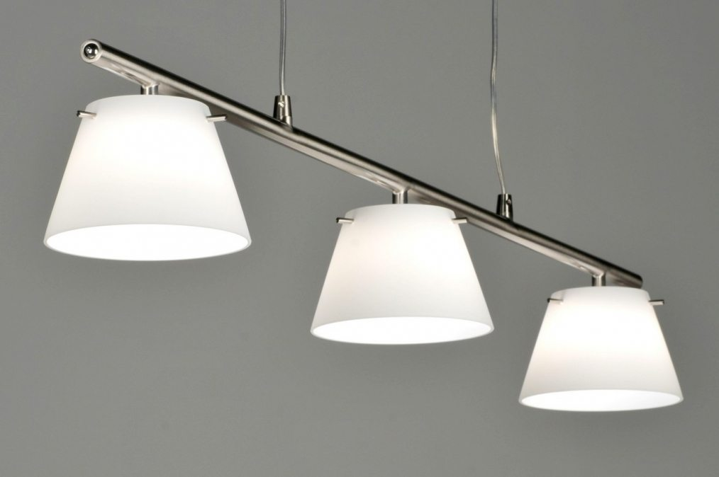 hanglamp 53860: modern, design, glas, wit opaalglas, staal , rvs ...