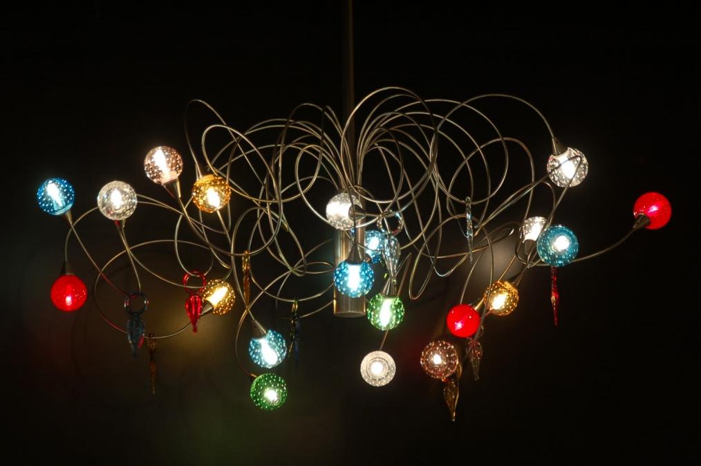Hanglamp Glas Keuken : hanglamp 58024: modern, glas, staal , rvs, rond