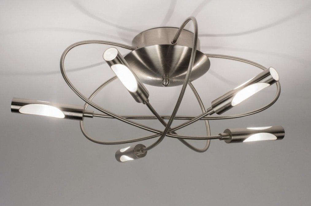 Plafondlamp 58816 Modern Glas Wit Opaalglas Staal