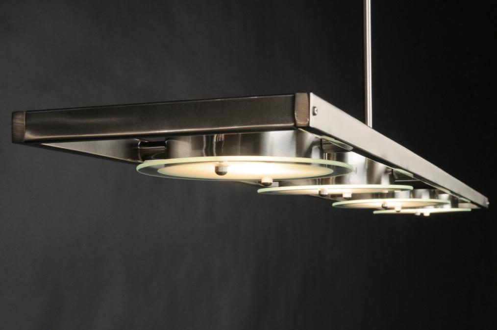 Hanglamp 59695: Modern, Staalgrijs, Staal , Rvs