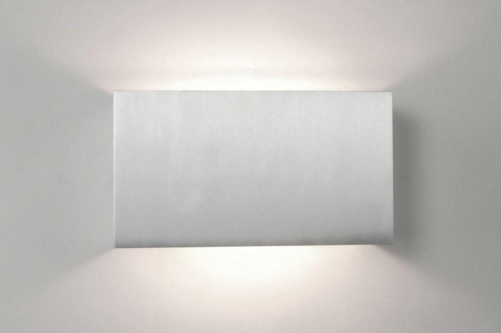 Wandlamp 67463: modern, aluminium, rechthoekig