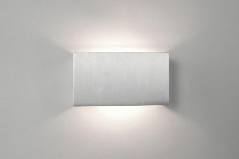 Wandverlichting Voor Slaapkamer : Wandlamp 67463: Modern, Aluminium ...