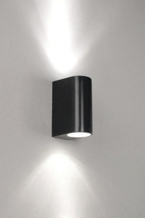 wandleuchte 70075 modern metall schwarz matt. Black Bedroom Furniture Sets. Home Design Ideas