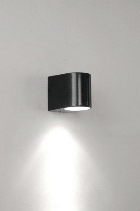 wandleuchte 70076 modern metall schwarz matt. Black Bedroom Furniture Sets. Home Design Ideas