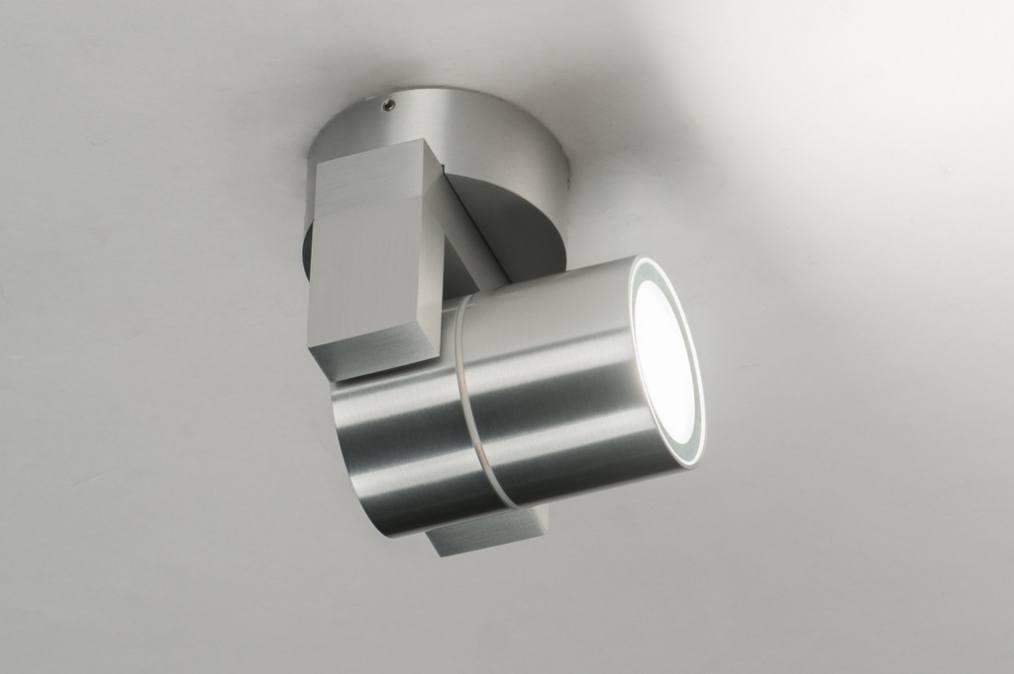 Spot 70184 modern aluminium rond - Badkamer kantelen ...
