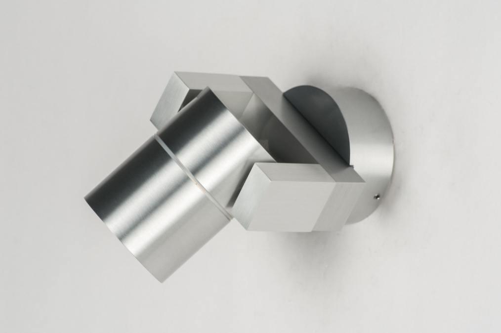 Spot 70184 modern aluminium glas mat glas - Badkamer kantelen ...