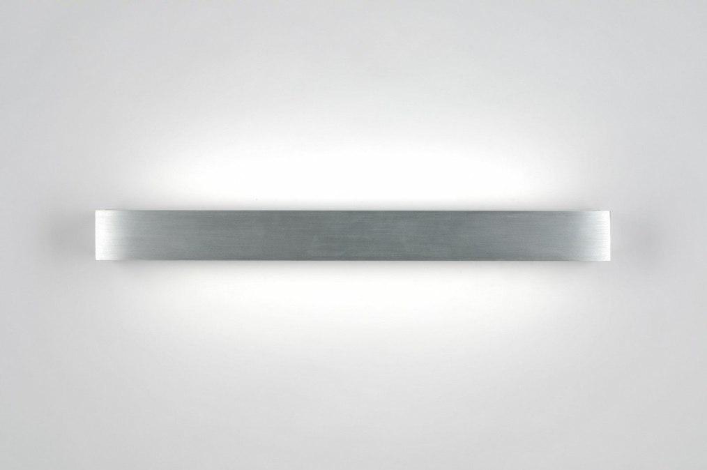 wandlamp 70187: modern, aluminium, kunststof, langwerpig