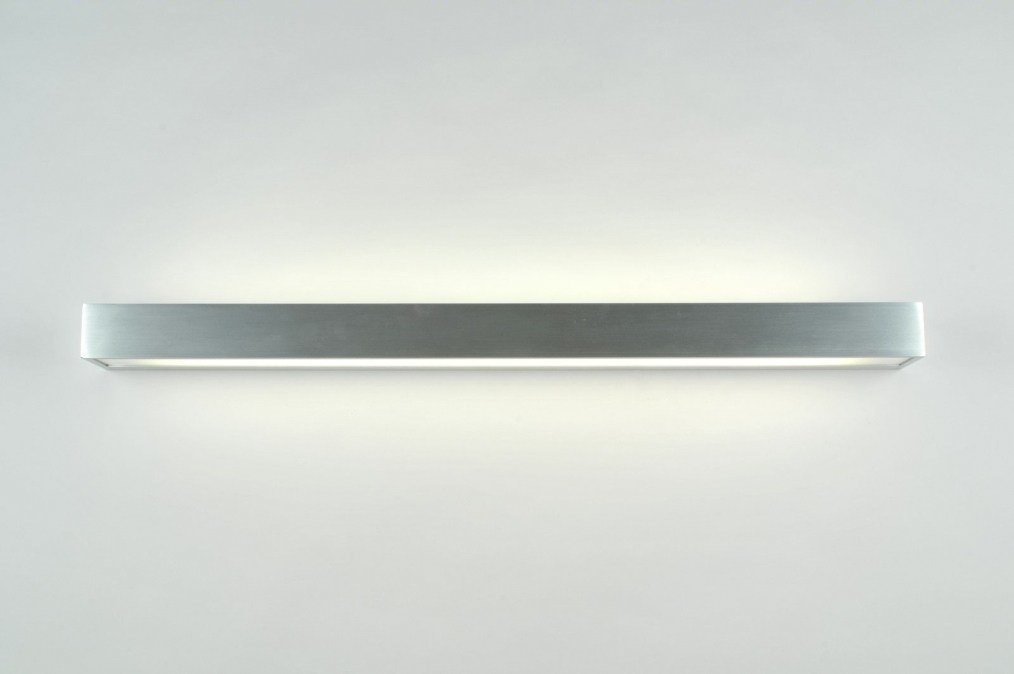 wandlamp 70188: modern, aluminium, kunststof, langwerpig