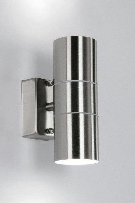 Wandlamp Badkamer Rond ~ Wandlamp 70499 modern, staal rvs, rond