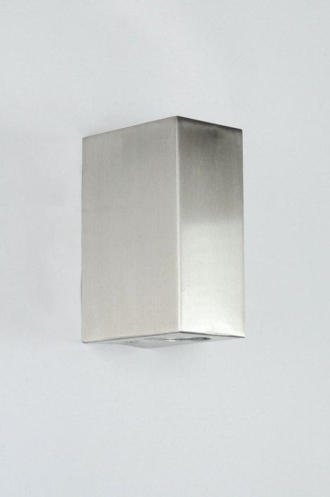 applique murale 70509 moderne acier poli rectangulaire. Black Bedroom Furniture Sets. Home Design Ideas