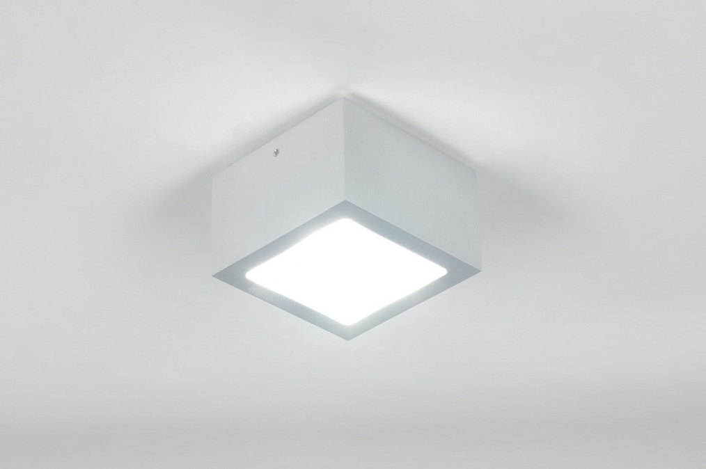 Plafondlamp Voor Keuken : plafondlamp 70642: modern, aluminium, glas, mat glas