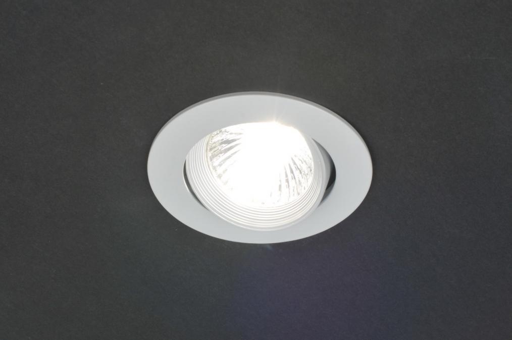 Slaapkamer Lampen Praxis : Inbouwspot 70806: Modern, Metaal, Wit ...