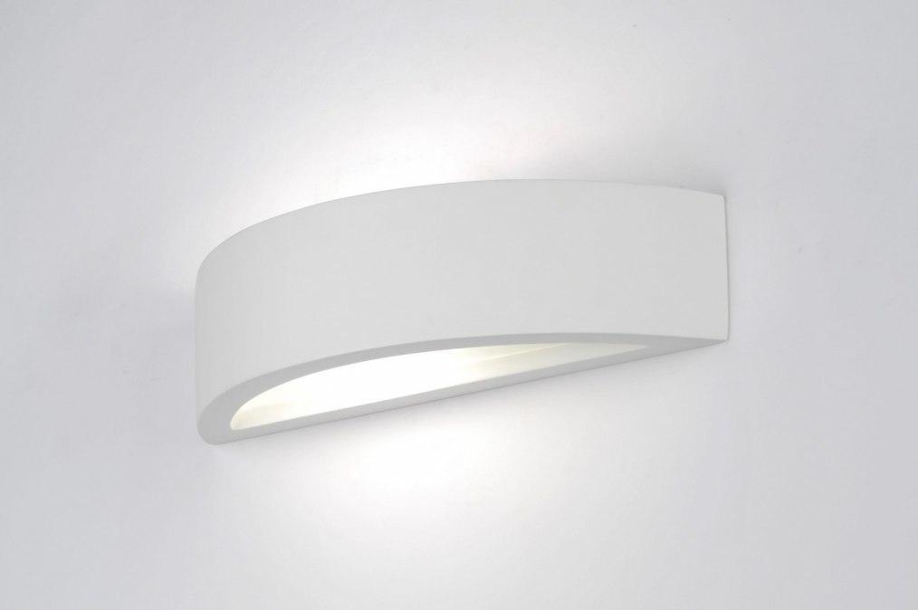 Hoogte Wandlamp Slaapkamer : wandlamp 70810: modern, klassiek, wit ...