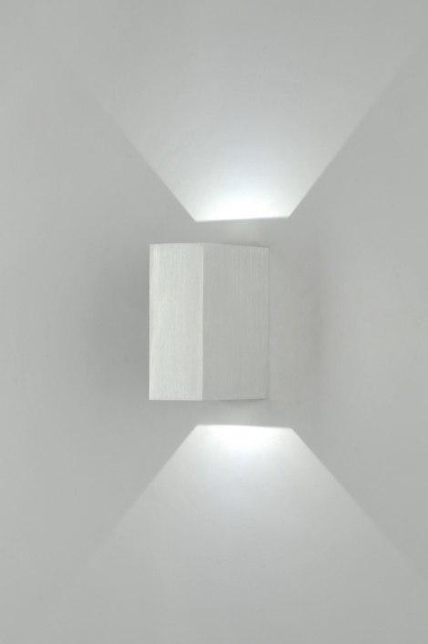 applique murale 70979 moderne design aluminium poli verre. Black Bedroom Furniture Sets. Home Design Ideas